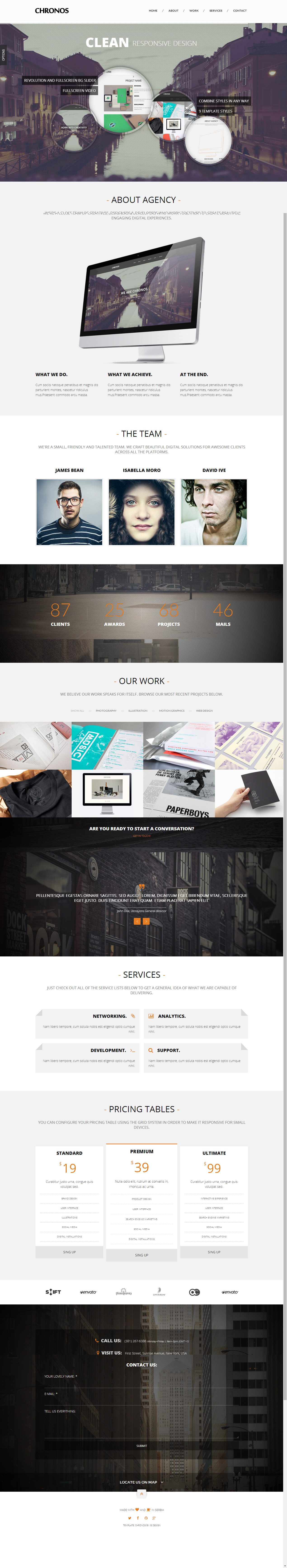 65+ Best Responsive One Page HTML5 Templates 2014 - Responsive Miracle