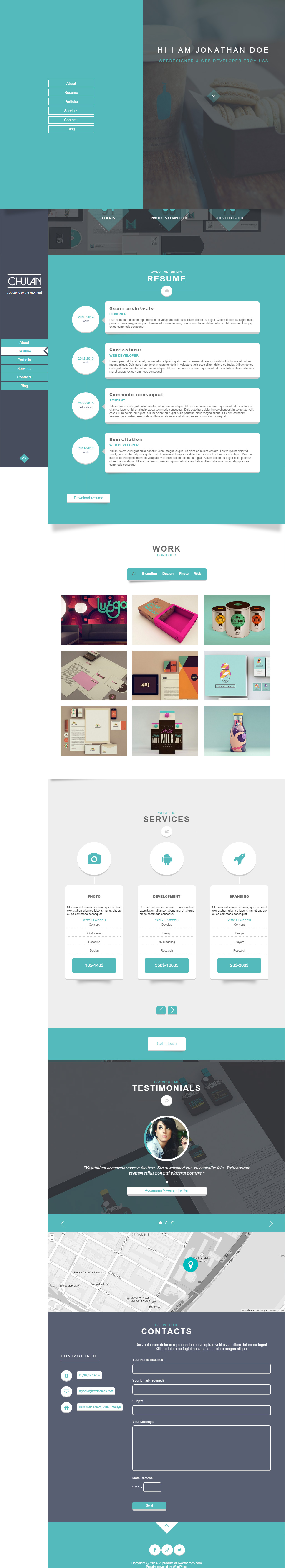 5+ Best Responsive WordPress Resume and CV Templates in 2014 ...
