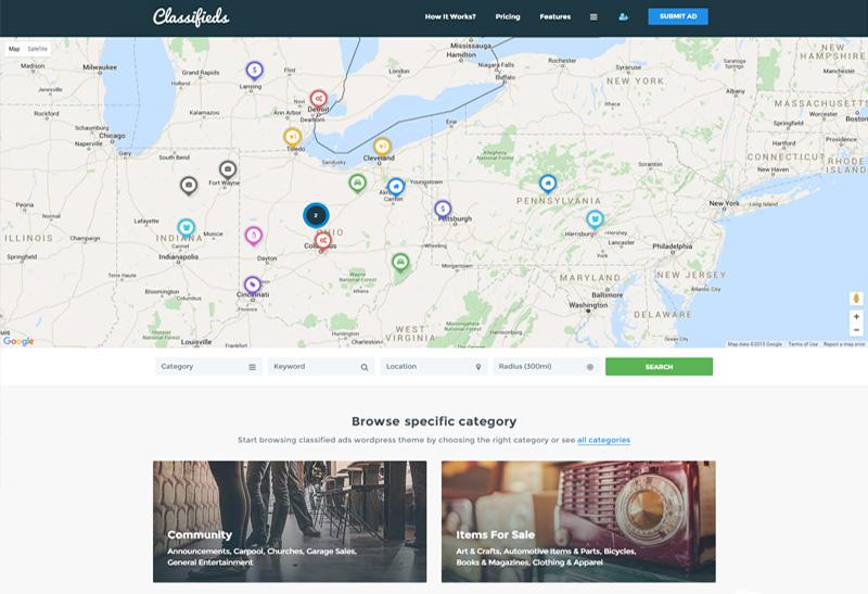 Classifieds - Premium Responsive Classified Ads WordPress Theme