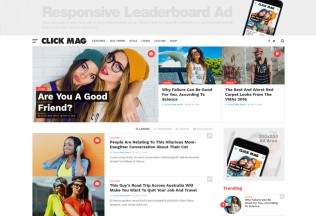 Click Mag – Premium Responsive Viral News Magazine/Blog WordPress Theme