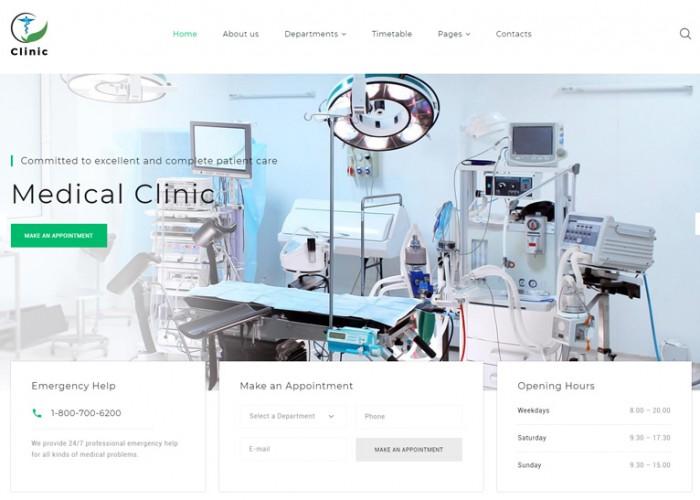 Clinic – Premium Responsive Medical Service HTML5 Template