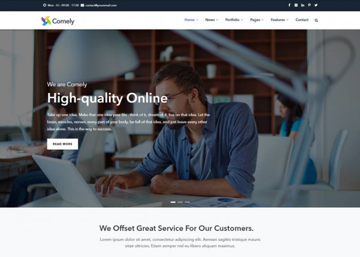 Comely – Premium Responsive Multipurpose Business Drupal 8 Theme