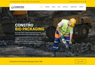Constro – Premium Resoponsive Construction Business HTML5 Template