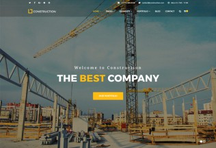 Construction – Premium Responsive Construction Company HTML5 Template