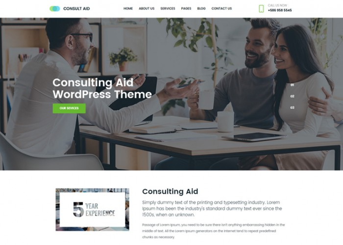 Consult Aid – Premium Responisve Business Consulting And Finance WordPress Theme