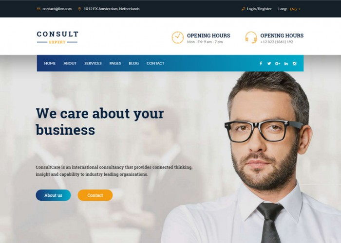 Consult Expert – Premium Responsive Finance WordPress Theme