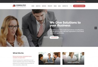 Consultex – Premium Responsive Business Consulting WordPress Theme