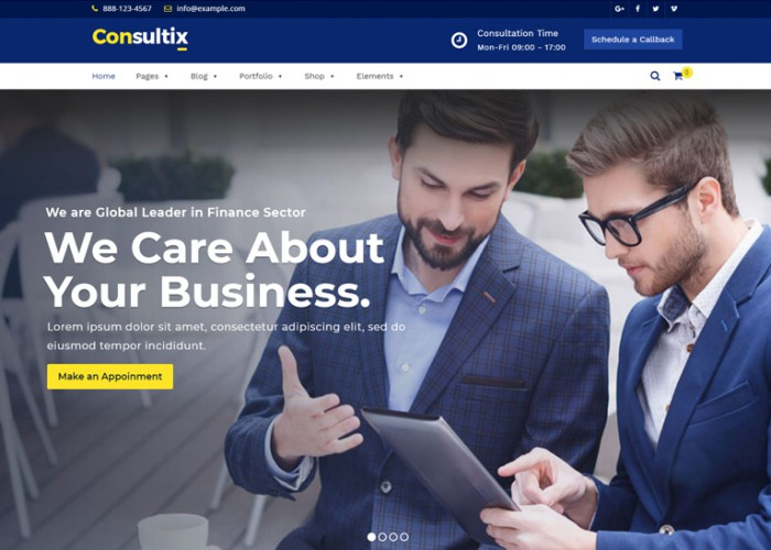 Consultix – Premium Responsive Business WordPress Theme