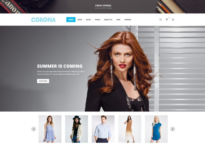 Corona – Premium Responsive Fashion WooCommerce WordPress Theme