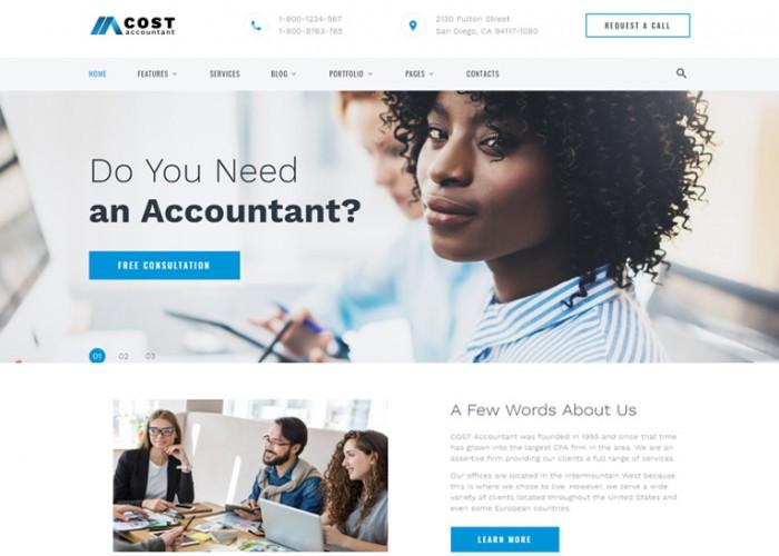 Cost – Premium Responisive Accountant HTML5 Template