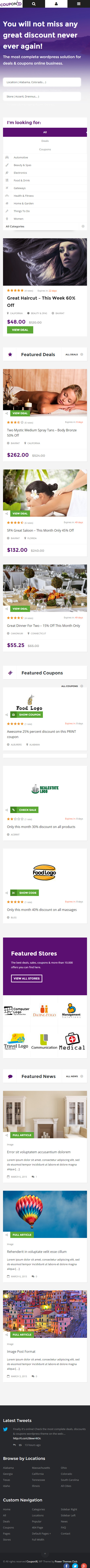 Coupon xl theme demo - Send me coupons to my mail