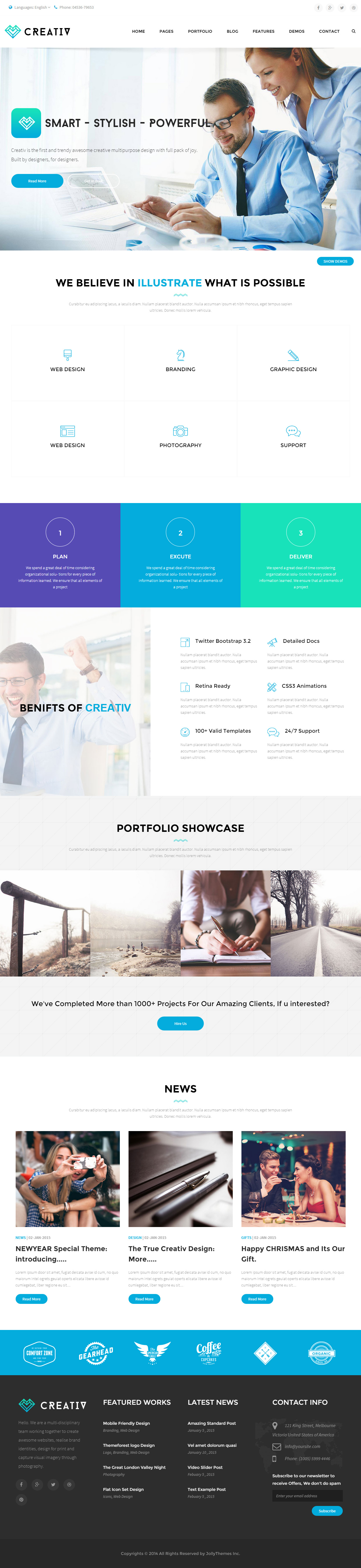 75+ Best Responsive Bootstrap HTML5 Templates 2015 - Responsive ...