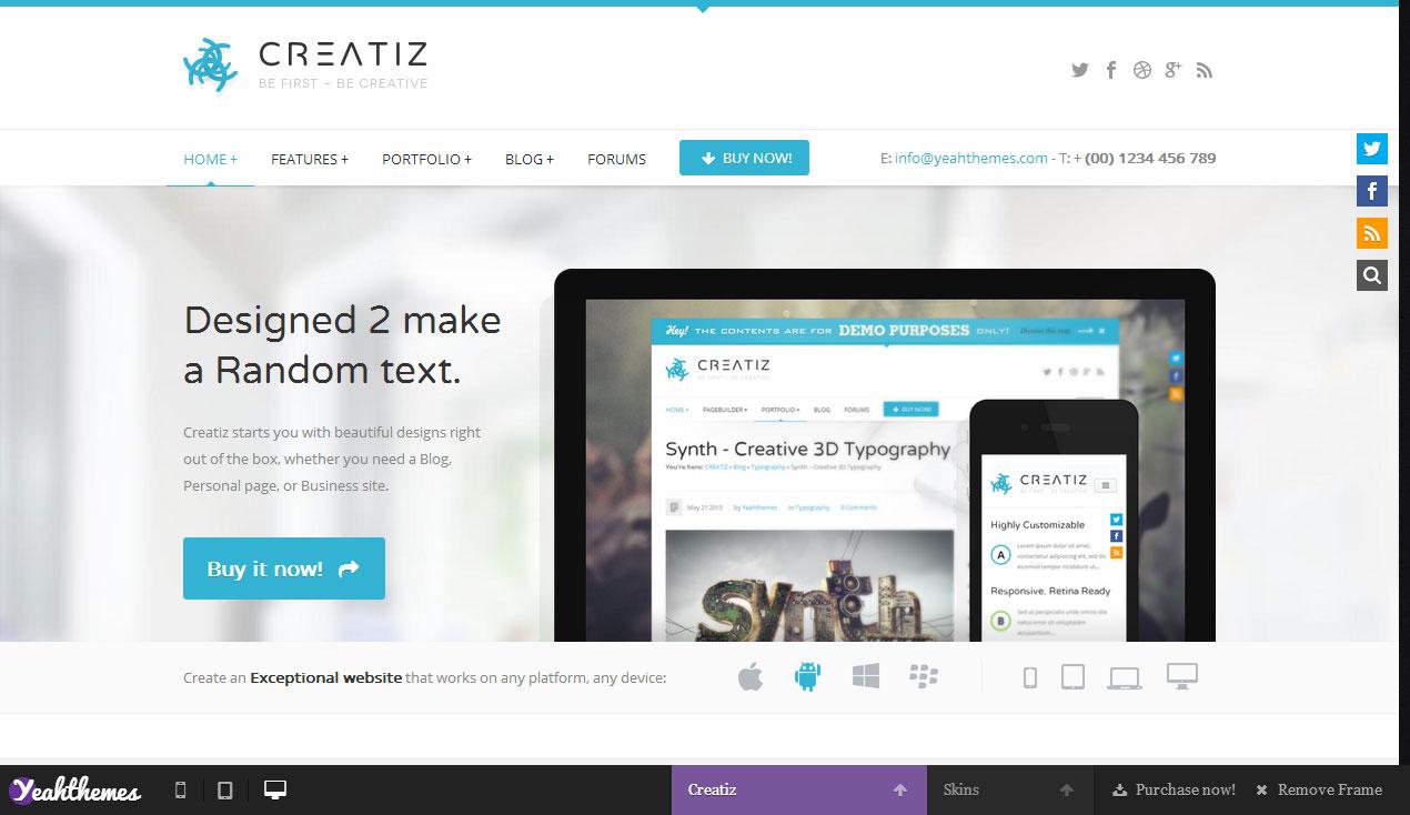 Creatiz   Premium Responsive WordPress Theme   Responsive Miracle
