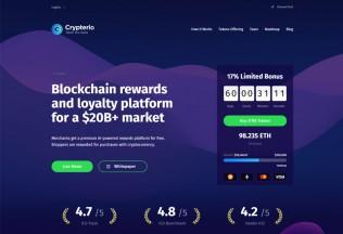 Crypterio – Premium Responsive ICO and Cryptocurrency WordPress Theme