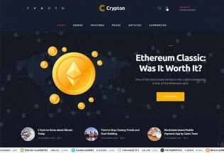 Crypton – Premium Responsive Cryptocurrency WordPress Theme