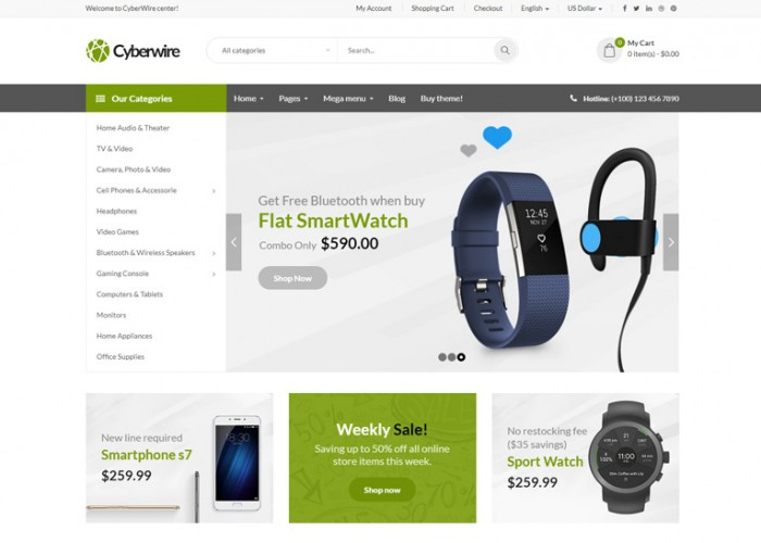 CyberWire – Premium Responsive Electronic OpenCart Theme