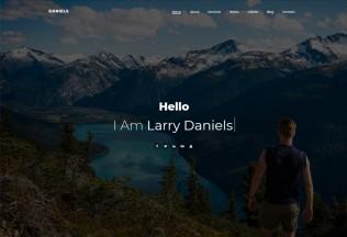 Daniels – Premium Responsive One Page Portfolio HTML5 Template