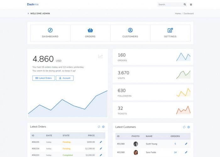 Dashmix – Premium Responsive Bootstrap 4 Admin HTML5 Template