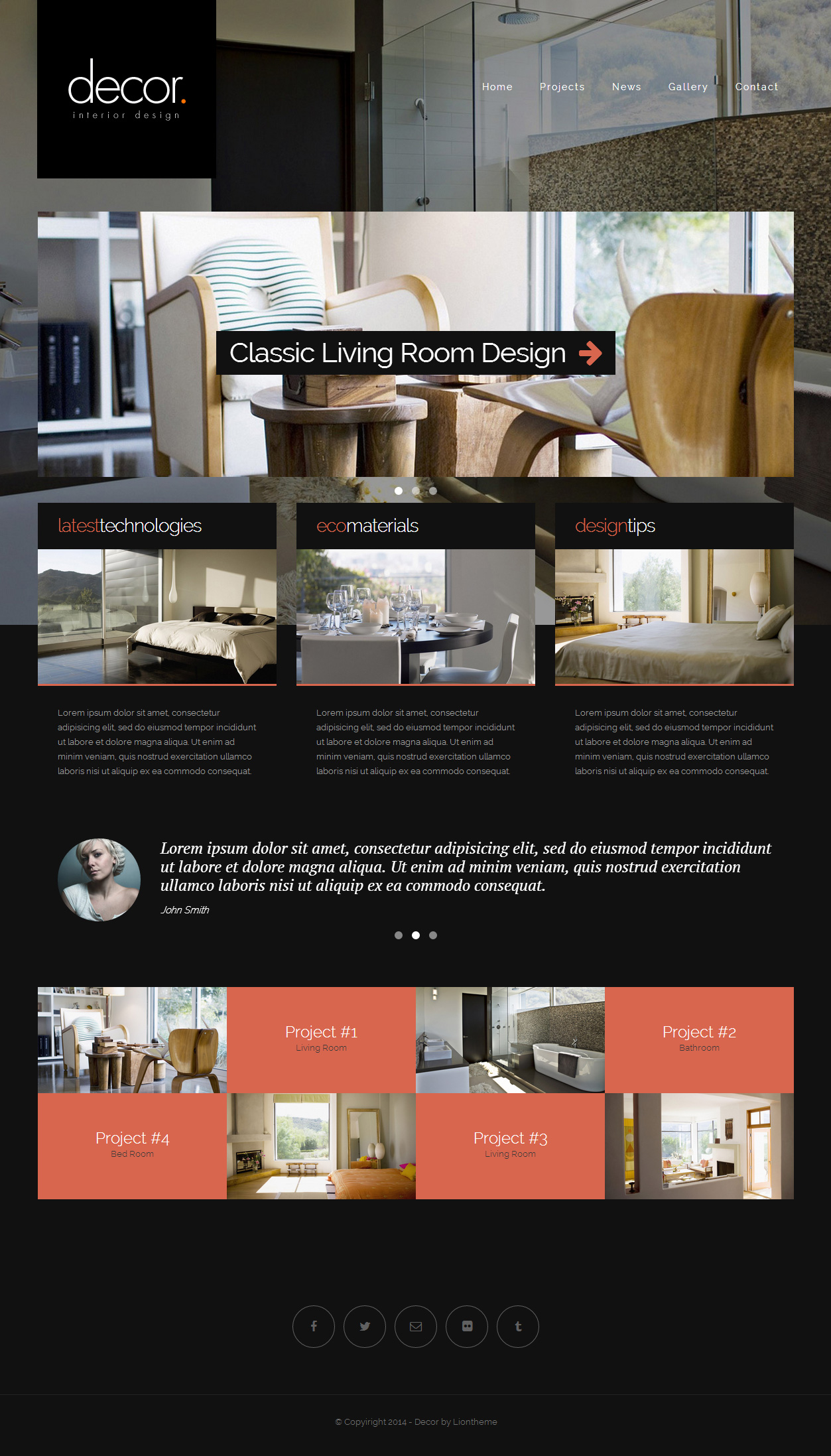 Decor Is Responsive Website Template With Unique Design Build Latest Bootstrap Framework Compatible Almost All Screen Size From Desktop To