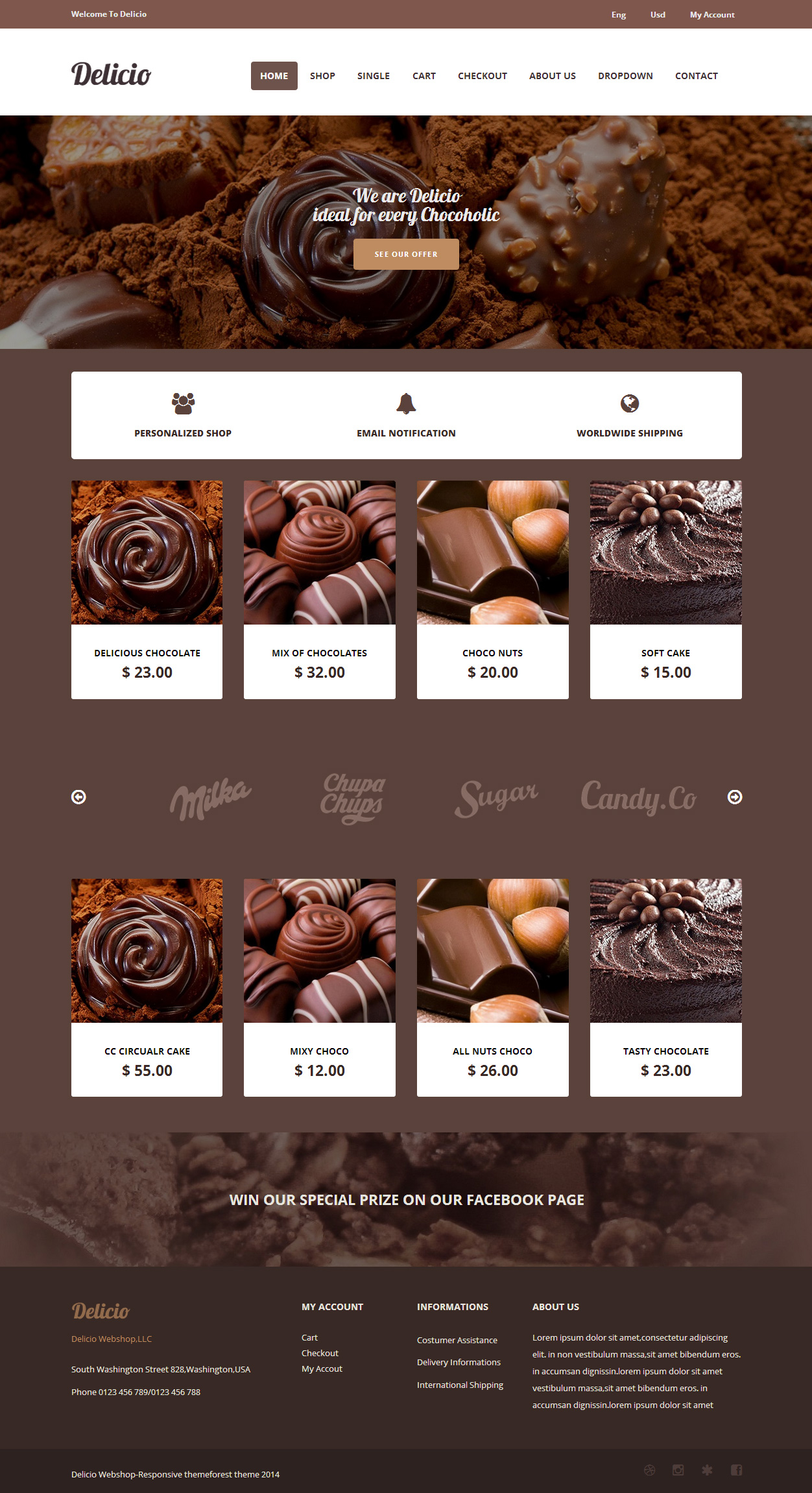 10 best html5 bakery website templates in 2017 responsive miracle delicio bakery website templates pronofoot35fo Image collections