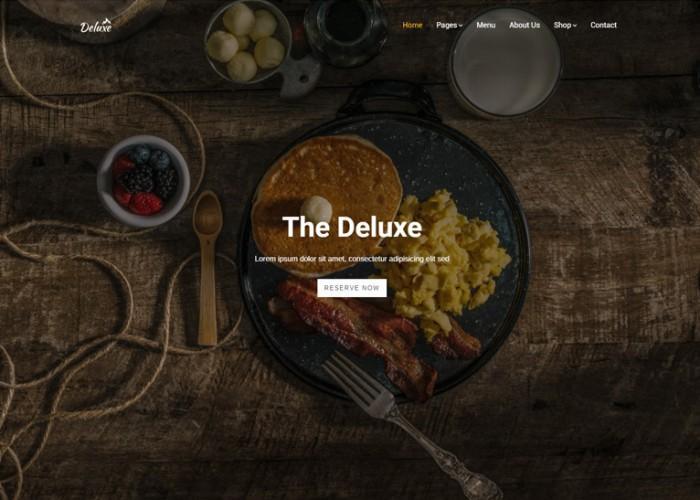 Deluxe – Premium Responsive Restaurant WordPress Theme