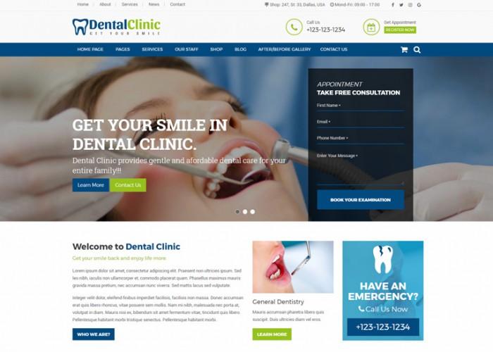 Dental Clinic – Premium Responsive Dentist & Medical HTML5 Template