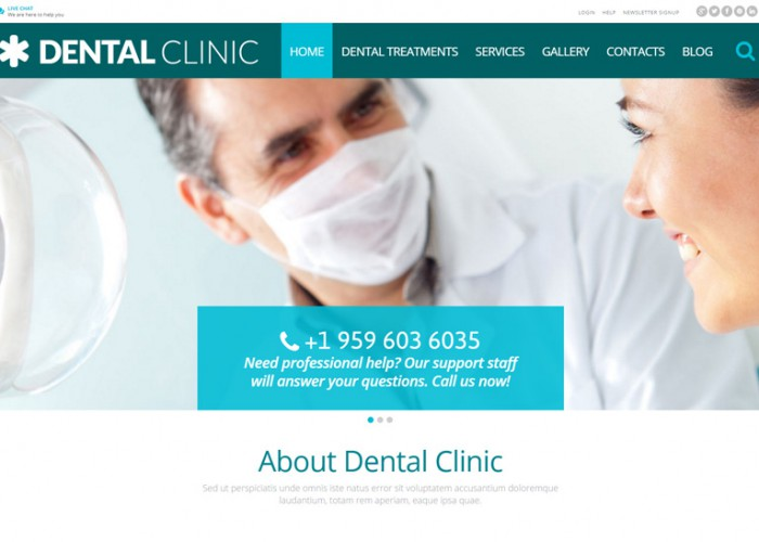 Dental Clinic – Premium Responsive WordPress Theme