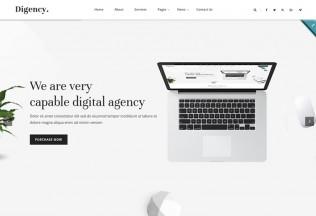 Digency – Premium Responsive Minimal Digital Agency HTML5 Template
