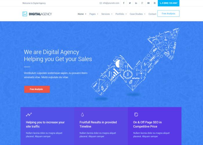 Digital Agency – Premium Responsive SEO / Marketing WordPress Theme