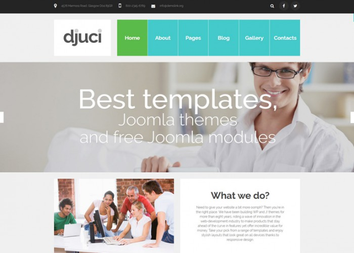 Djuci – Premium Responsive Web Design Agency Joomla Template