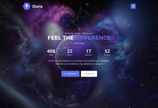 Doris – Premium Responsive Creative Coming Soon HTML5 Template