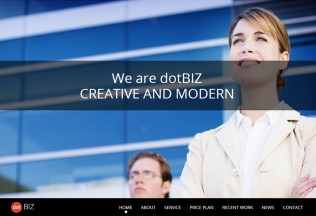 dotBIZ – Premium Responsive One Page Parallax WordPress Theme
