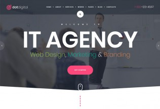 DotDigital – Premium Responsive Web Design Agency WordPress Theme