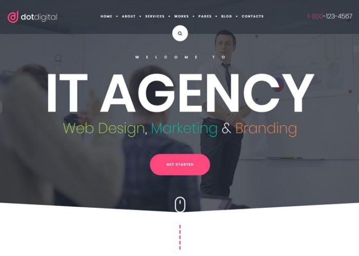 DotDigital – Premium Responsive Web Design Agency WordPress Theme