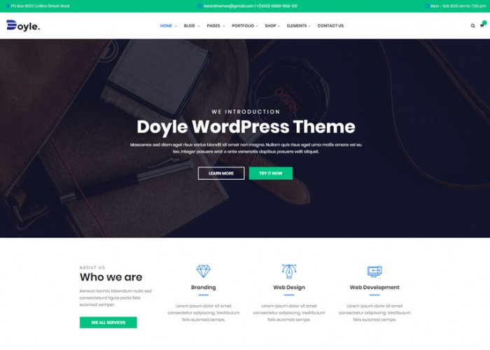 Doyle – Premium Responsive Creative Multipurpose WordPress Theme