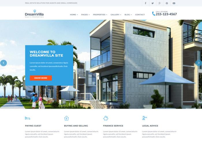 DreamVilla – Premium Responsive Real Estate HTML5 Template