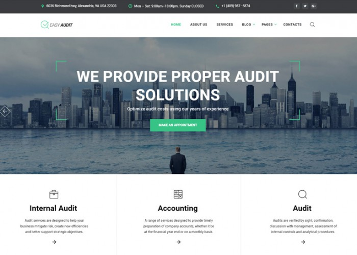 Easy Audit – Premium Responsive Multipage Consulting HTML5 Template