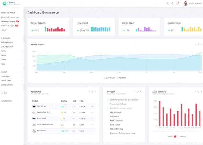 EasyDev – Premium Responsive React Bootstrap 4 Admin Template
