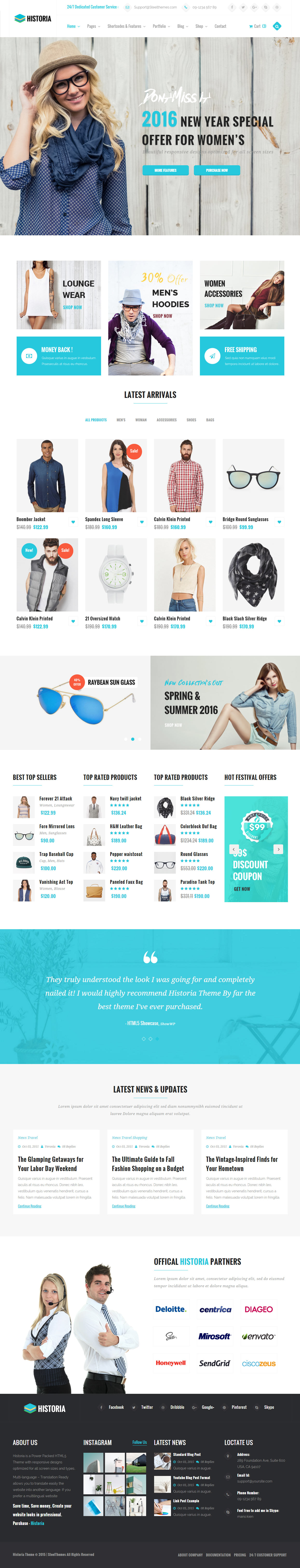 30+ Best eCommerce HTML5 Website Templates 2017 - Responsive Miracle