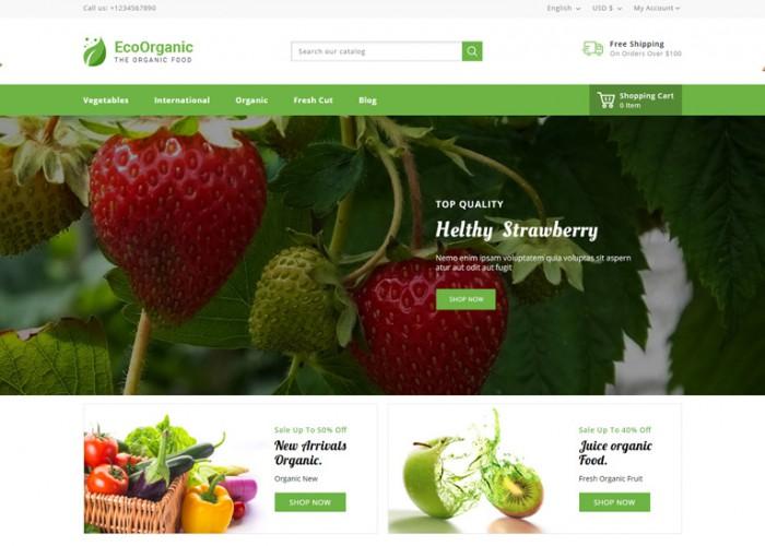 EcoOrganic – Premium Responsive Food Prestashop 1.7 Theme