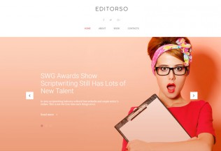 Editorso – Premium Responsive Journalist Blog WordPress Theme