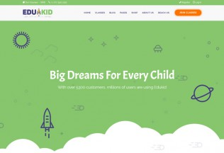 Edukid – Premium Responsive Kindergarten & School Education WordPress Theme
