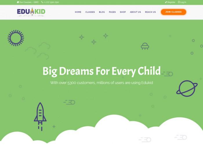 Edukid – Premium Responsive Kindergarten & School Education WordPress Theme