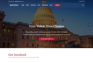 Elvotics – Premium Responsive Political WordPress Theme