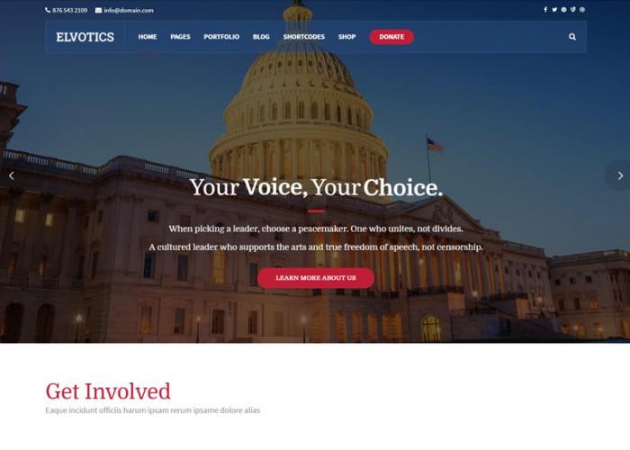 Elvotics – Premium Responsive Political WordPress Theme