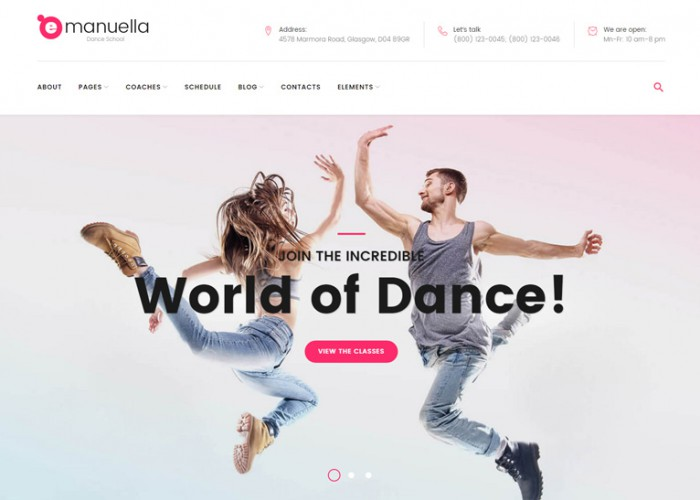 Emanuella – Premium Responisve Dance School WordPress Theme