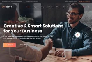 EmBoryo – Premium Responsive Agency & Startup WordPress Theme