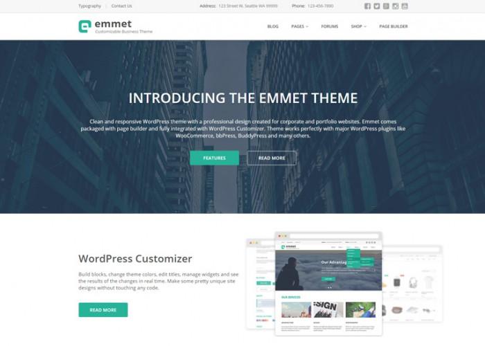 Emmet – Premium Responsive Business WordPress Theme
