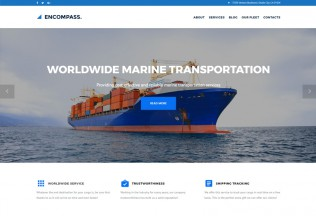 Encompass – Premium Responsive Transportation Maritime WordPress Theme