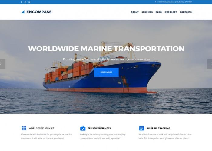 Encompass – Premium Responsive Transportation Maritime WordPress Theme